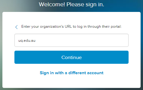 "Screen capture of the Lynda.com ""Organization URL"" box."